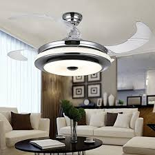 Retractable Ceiling Light by Jubilant Lifestyle Modern Crystal Remote Control Transparent