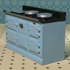Dolls House Kitchen Furniture The Dolls House Emporium Light Blue Aga Style Stove