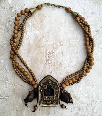 vintage tibetan necklace images Antique tibetan prayer box ghau necklace ethnic religious JPG