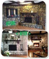 White Washed Stone Fireplace Life by Diy Housewives Living Rooms Stone Fireplaces Housewife And