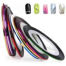 amazon com 10 color rolls nail art decoration striping tape beauty