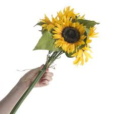 artificial sunflowers artificial sunflower bundle bushes and bouquets floral