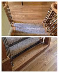 Staircase Laminate Flooring The Last Step On This Staircase Blends In With The Hardwood Floor