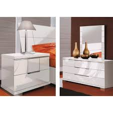 White Gloss Bedroom Mirror Furniture Adorable Picture Of Fluted Front White Lacquer Dresser