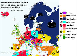 Cool Maps Of The World by Pic This Map Of Europe Reveals Which Sport Each Country Is Best