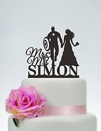 mr mrs cake topper captain america cake topper wedding cake topper mr and mrs cake