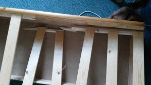 fix cracked wooden bedframe carpentry u0026 joinery job in west