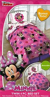 Minnie Mouse Twin Comforter Sets Disney Minnie Mouse Twin 4 Piece Bedding Set With Tote