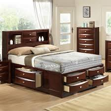 b111sq roundhill furniture emily 111 wood storage bed queen merlot