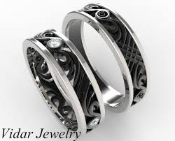 his and hers matching wedding band set vidar jewelry unique