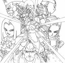 best super dragon ball z coloring pages free 2282 printable