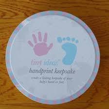 tinyy ideas handprint keepsake and tiny easel baby or