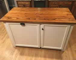 kitchen island wood countertop kitchen island etsy