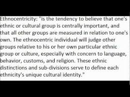 ethnocentrism defined and an example youtube