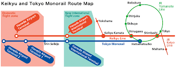 shinagawa station map access information haneda airport terminal portal site