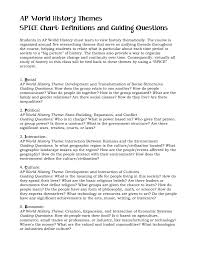 5 themes of geography acronym ap world history themes spice chart