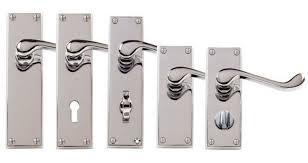 Chrome Bathroom Door Handles EBay - Bathroom door knob with lock