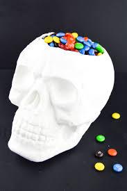 halloween diy skull candy bowl revamperate