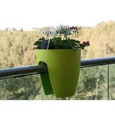 Rail Hanging Planters by Hanging Shutters On The Balcony Railing Planter