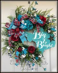 texas big and bright grapevine floral wreath by twentycoats wreath