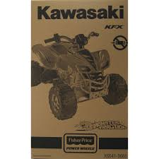 power wheels kawasaki kfx 12 volt battery powered ride on green