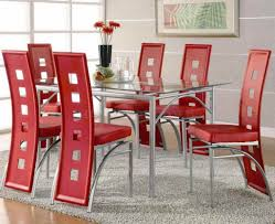 dinning red dining room set fabric dining chairs leather dining