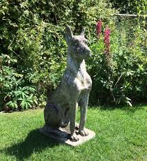 large weathered cast great dane figure at 1stdibs
