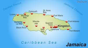 World Map With Cities Jamaica Map With Cities Political Jamaica Map Outline