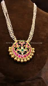 antique necklace pendants images Gold pearl chain with antique ruby pendant i like jewelry jpg