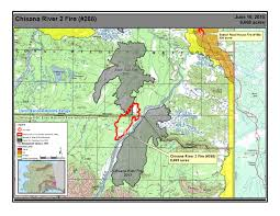 Wildfire Perimeter Map by Chisana River 2 Fire Maintains Steady Growth Under Prime
