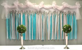 tulle backdrop decorating for a baby shower lyn at home