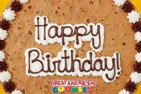 birthday cookie cake great american cookie company birthday giveaaway
