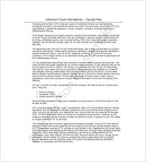 business plan template for travel agency travel business plan