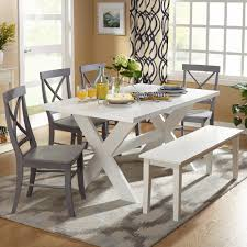 dining room tables with bench amazing glass dining table for