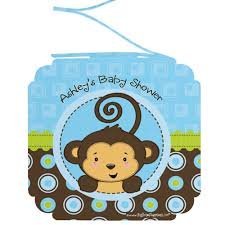 baby shower monkey baby shower decorations monkey boy monkey boy 3 personalized baby