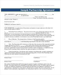 9 partnership contract templates word pdf free u0026 premium