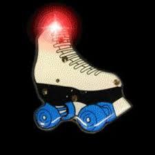 roller skates with flashing lights roller skate flashing body light lapel pins walmart com