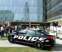 police car ford reveals 1st pursuit rated hybrid police car cleantechnica