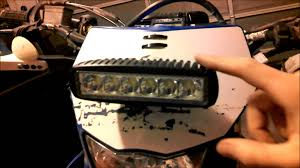 How To Make An Led Light Bar by Superbright Led Trail Light From Ebay On Dirtbike Install And