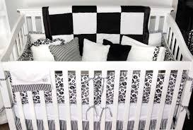 Black And White Crib Bedding Sets Adorable Obsession With A Punch Of Color Pinterest Black