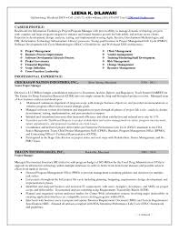 project manager resume sle resume for project manager copy sap project manager
