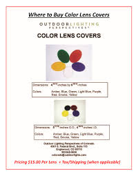 Dauer Landscape Lighting by Where To Buy Color Lens Covers For Your Landscape Lighting