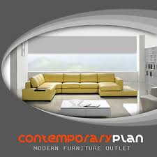 contemporary mustard yellow leather sectional sofa with built in