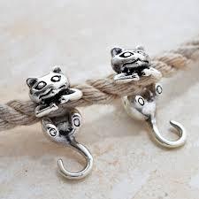 cat stud earrings sterling silver cat two way stud earrings by martha jackson