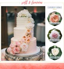 16 ideas for wedding cakes with fresh flowers the snapknot blog