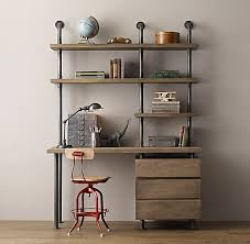 pipe desk with shelves industrial pipe single desk shelving with drawers home for diy pipe