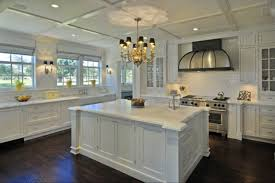 traditional white kitchen with large eat in island hgtv with