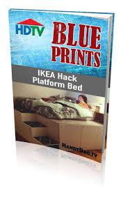 Ikea Hack Platform Bed With Storage by Ikea Platform Bed Cabinets Bed Frame Designed With Headboard