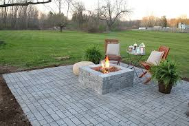 How To Paver Patio How To Build A Paver Patio With A Built In Pit Patios
