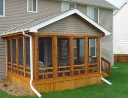 Shed Roof Screened Porch Building A Screened Porch On A Mobile Home Home Design Ideas